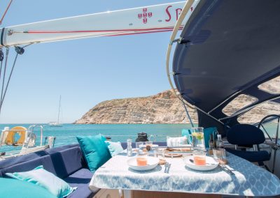 Lunch onboard S/Y Spirit of Lusitania